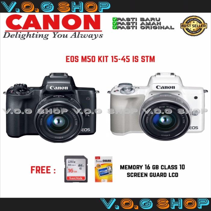harga Canon eos m50 kit 15-45 is stm Tokopedia.com