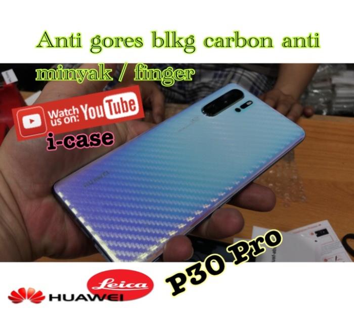 Foto Produk Anti Gores Belakang skin Huawei P30 Pro Clear Carbon check video dari i-case