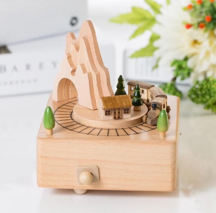 harga Wooden music box kotak musik kayu train Tokopedia.com