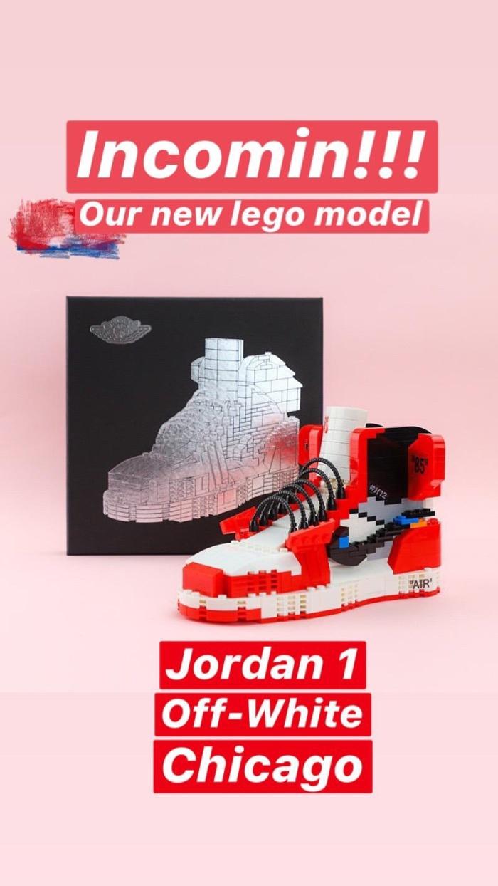 Air Jordan 1 Off-White Chicago Lego