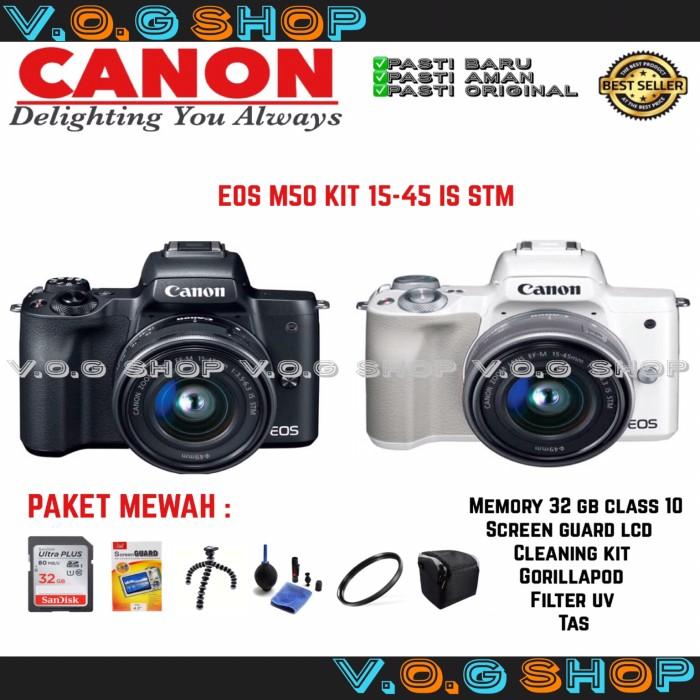 harga Canon eos m50 kit 15-45 is stm black Tokopedia.com