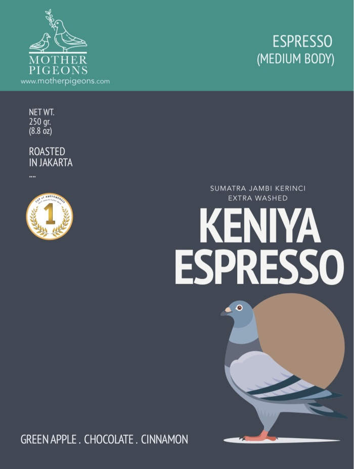 Foto Produk KENIYA ESPRESSO (Sumatra Keniya Extra Washed) dari Motherpigeons Roaster