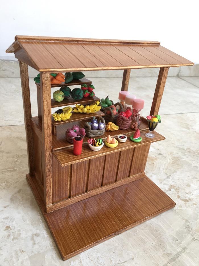Foto Produk Miniatur clay es dan buah gerobak warung dari Lynlyn