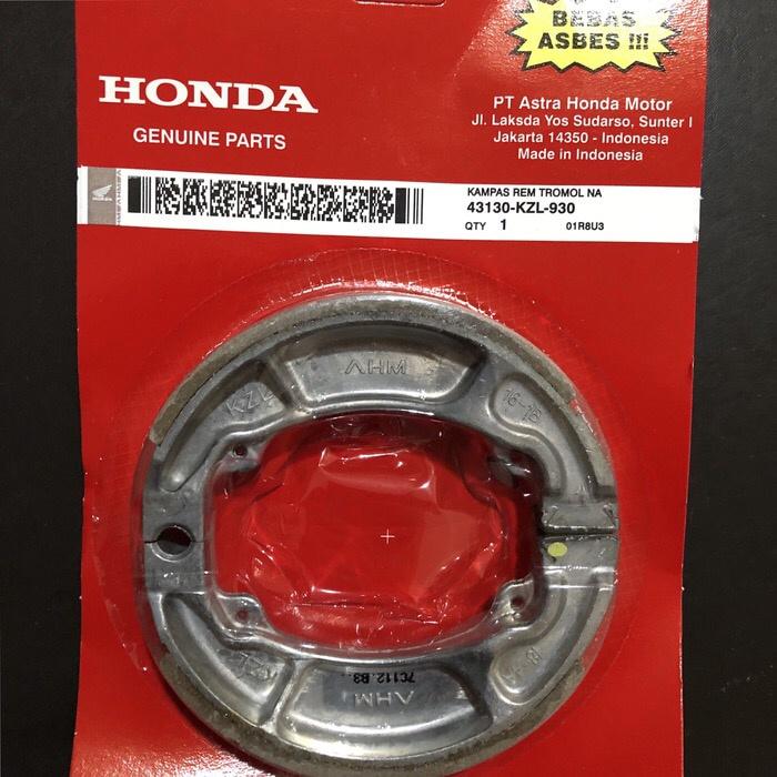 Foto Produk Kampas Rem Tromol Honda Vario Beat New Lama Baru Old Spacy KZL Hitam dari yaay auto part motor