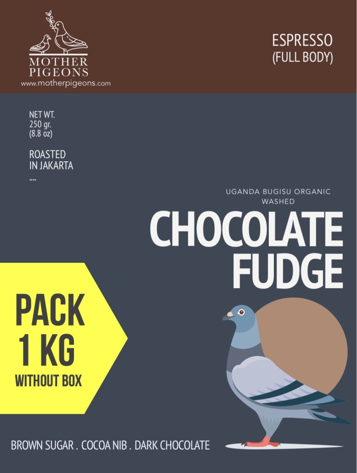Foto Produk CHOCOLATE FUDGE (Uganda Bugisu Organic Washed) 1 Kg Pack! dari Motherpigeons Roaster