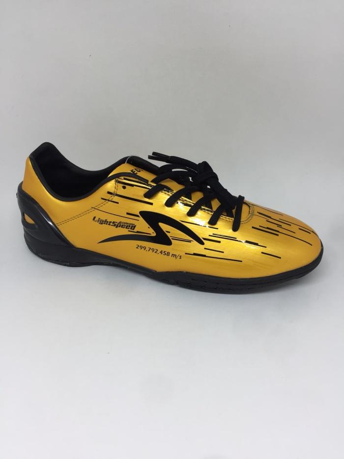 Jual Sepatu Futsal Specs Accelerator Lightspeed In Gold Black New