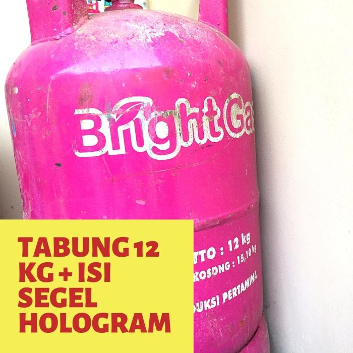 Jual Murah Tabung Bright Gas Pink 12 Kg Isi Segel Hologram Jakarta Timur Raja Gas Tokopedia