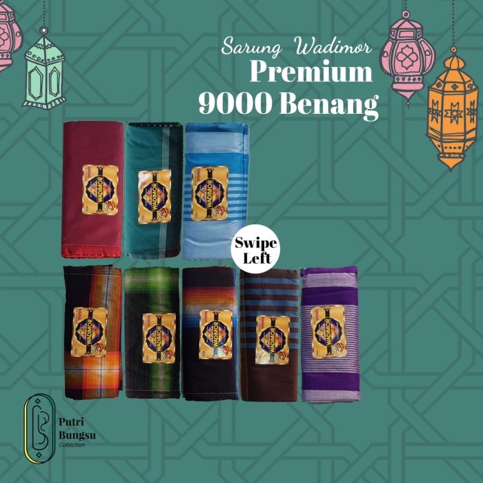 Foto Produk SARUNG WADIMOR PREMIUM. 9000 BENANG. PAKE BOX. MOTIF BANYAK dari putribungsucollection