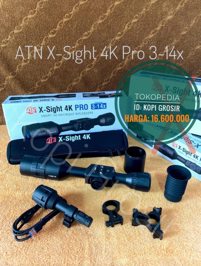 Jual ATN X Sight 4K PRO 3-14 x day Night Vision Scope Teropong malam - Kota  Palembang - Kopi Grosir | Tokopedia