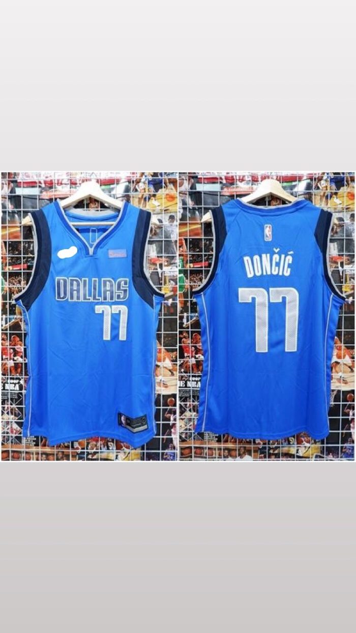 separation shoes 0fe45 774b7 Jual Jersey Basket Swingman NBA Dallas Mavericks Luka Doncic biru - Kota  Batam - Jersey Basket ID   Tokopedia