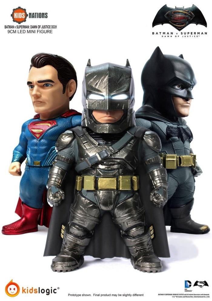 3 Pack Dawn of Justice Kids Logic DC01 Figurine Set Batman v Superman