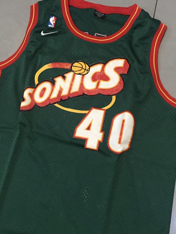 new product 8e2f2 c3f33 Jual Jersey NBA - Seattle Supersonics - Shawn Kemp #40 -Retro Ori- -  Jakarta Selatan - outswing | Tokopedia