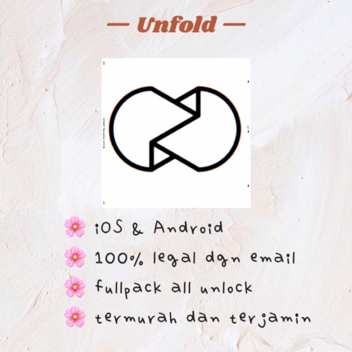 Jual Unfold Fullpack All Unlock android iOS termurah premium - Kota Bekasi  - SEOULITE SHOP | Tokopedia