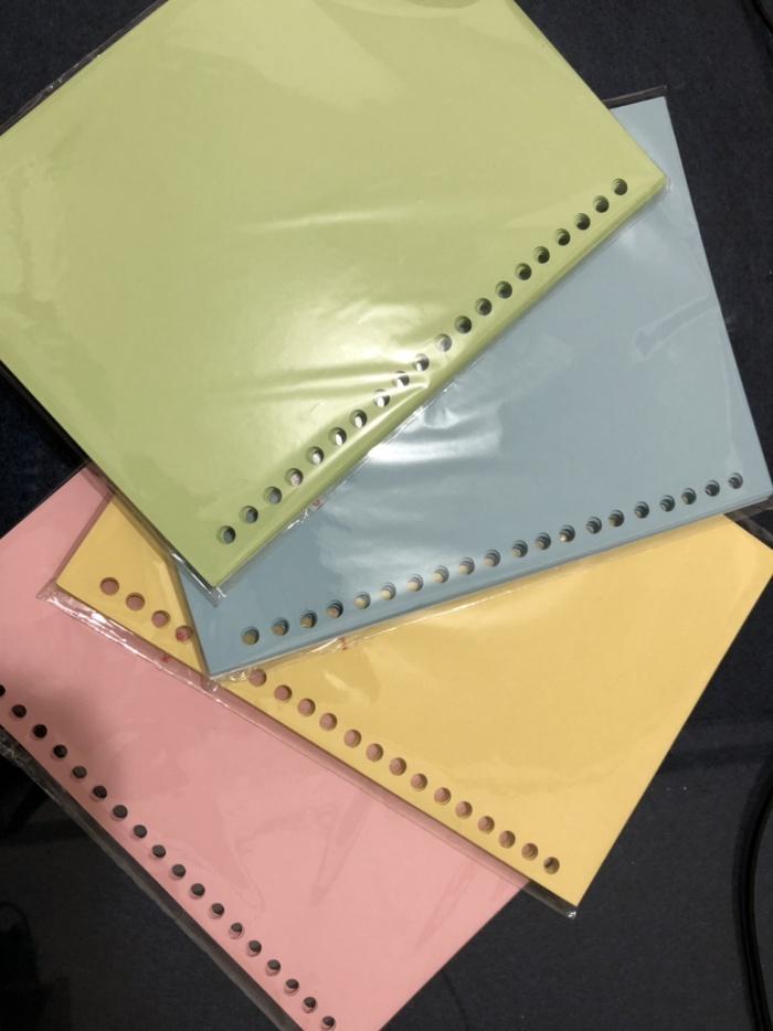 Sell paper binder a5 loose leaf paper 20rings line color