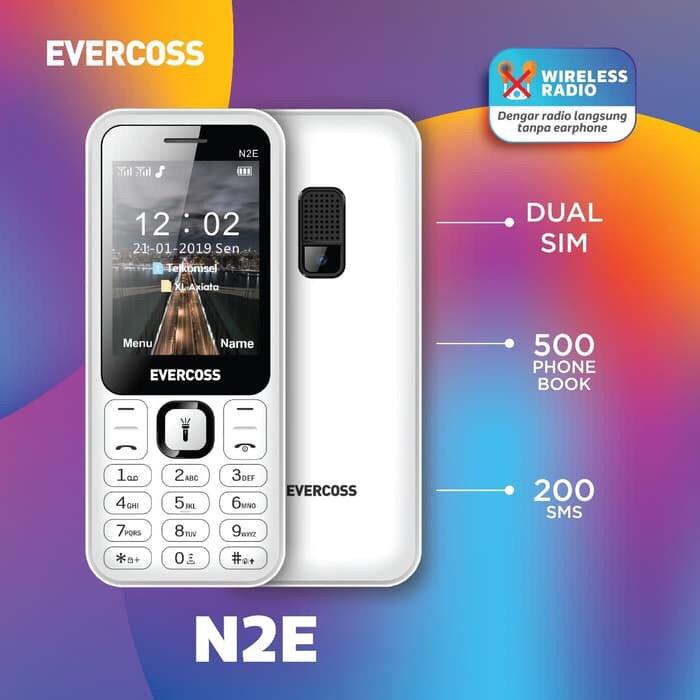 harga Evercoss n2e - layar 2.4 inch- radio tanpa headset Tokopedia.com