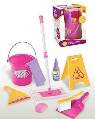Foto Produk LITTLE HELPER 667E Mainan Anak Perempuan Bersih-Bersih Sapu Pel dari Lumi Toys