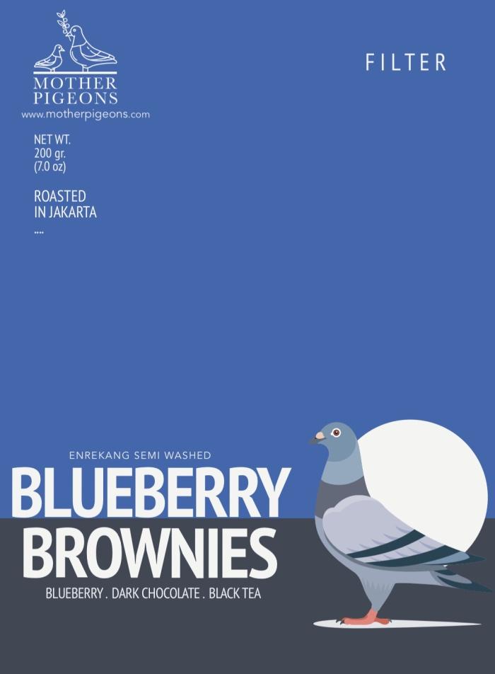 Foto Produk BLUEBERRY BROWNIES (Sulawesi Enrekang Semi Washed) dari Motherpigeons Roaster