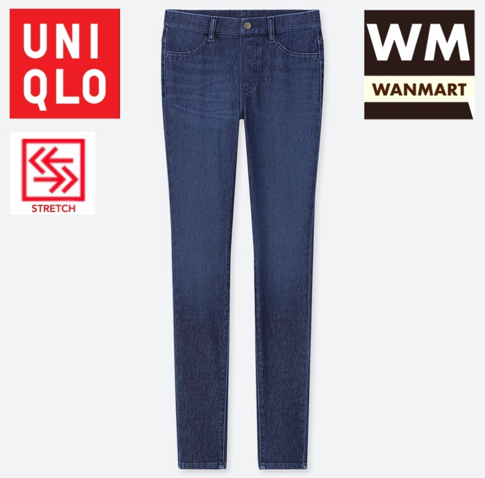 Jual Uniqlo Women Pants Celana Legging Ultra Stretch Denim Wanita Blue Kota Depok Wan Mart Tokopedia