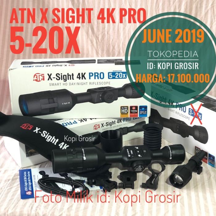 Jual ATN X Sight 4K Pro 5-20 x Night Vision day Scope teropong malam - Kota  Palembang - Kopi Grosir | Tokopedia