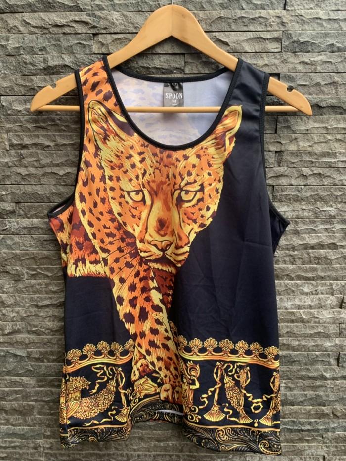 harga Kaos lengan buntung / singlet / kutang pria motif versace leopard Tokopedia.com
