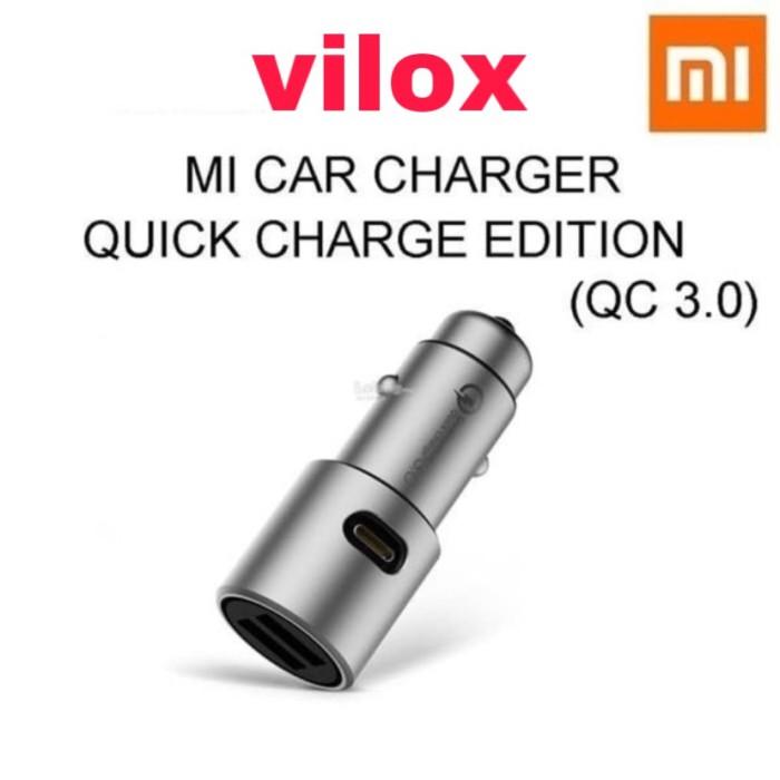 Foto Produk charger cas adapter car mobil xiaomi mi qc quick charger 3.0 original dari Vilox
