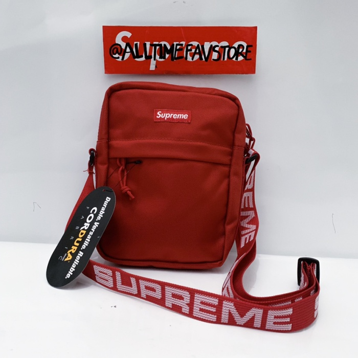 Jual Supreme Sling Bag Shoulder Bag Ss18 Original Ori Bnwt Red