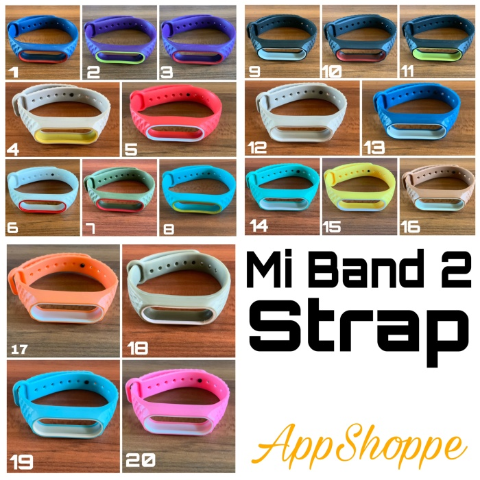 Foto Produk Xiaomi Mi Band 2 Replacement Band Strap Rugged Design dari AppShoppe