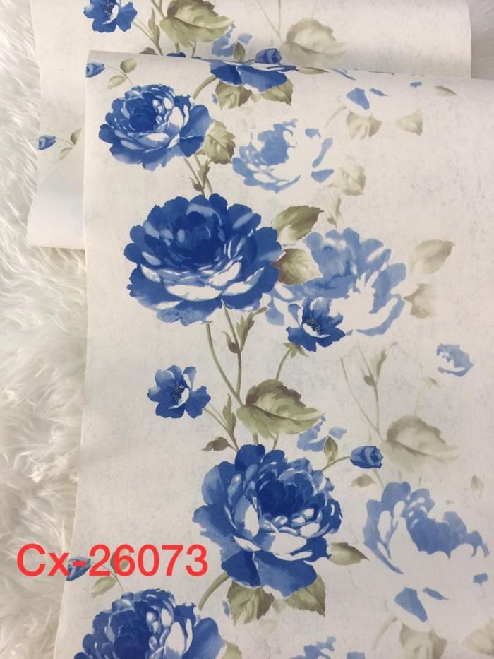 Jual Wallpaper Dinding Bunga Mawar Biru Salur Sale Kota Bekasi Cantik Wallpaper Tokopedia