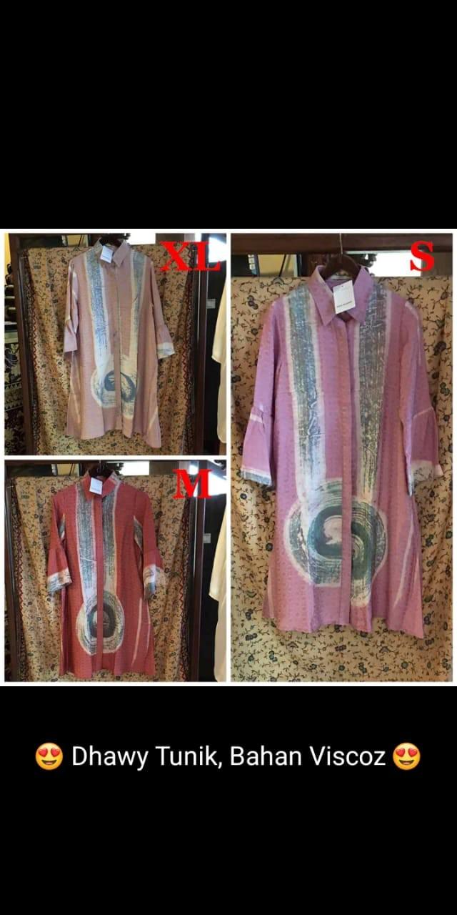 Jual Dhawy Tunik Batik Abstrak By Dian Pelangi Original Top Kemeja Blouse Kota Pekalongan Dian Pelangi ORIGINAL