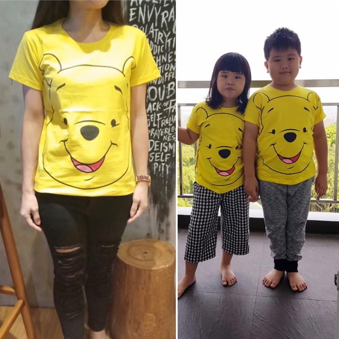 Foto Produk Kaos couple ibu anak pooh yellow dari devolin cute lunch
