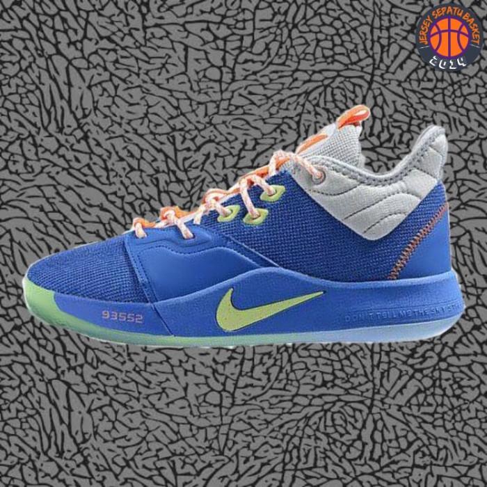 wholesale dealer 7c8ec 3a1b1 Jual Sepatu Basket Sneakers Nike Paul George 3 PG Blue Volt Pria Wanita -  Kota Batam - Jersey Basket ID | Tokopedia