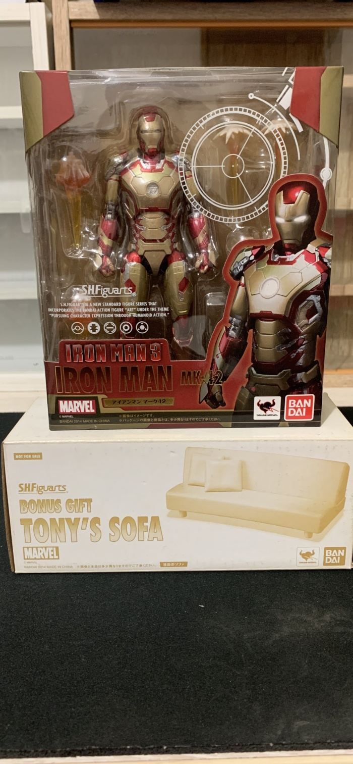 Jual Iron Man 3 MK 42 SHF Figuarts Bandai Original Sofa Kota Bogor Hobby Rare S