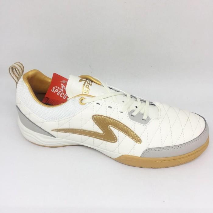 Promo Sepatu Futsal Specs Original Metasala Nativ Putih Gold New
