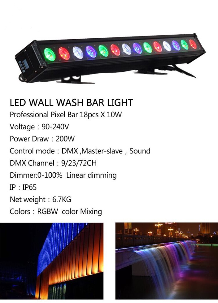 Foto Produk Wallwasher 18x10W RGBW 4in1 waterproof IP65 dari DUNIA LAMPU LIGHTING