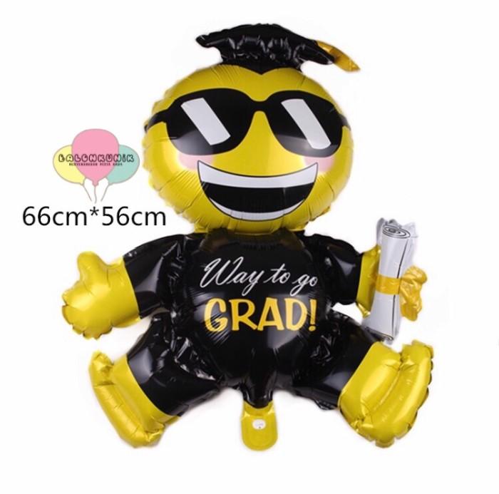 Jual Balon Jumbo Wisuda Graduation Sidang Skripsi Emoji Kab Sidoarjo Balonkunik Tokopedia
