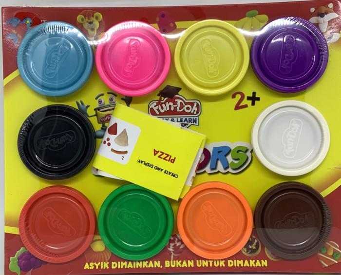 Foto Produk fun doh lilin mix 10 warna / refill lilin mainan dari bintangjaya toys