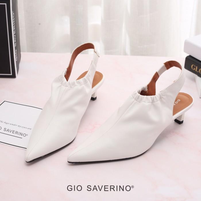 Foto Produk GIO SAVERINO selena white sepatu sandal heels rendah - Putih, 35 dari Nirvana Indonesia
