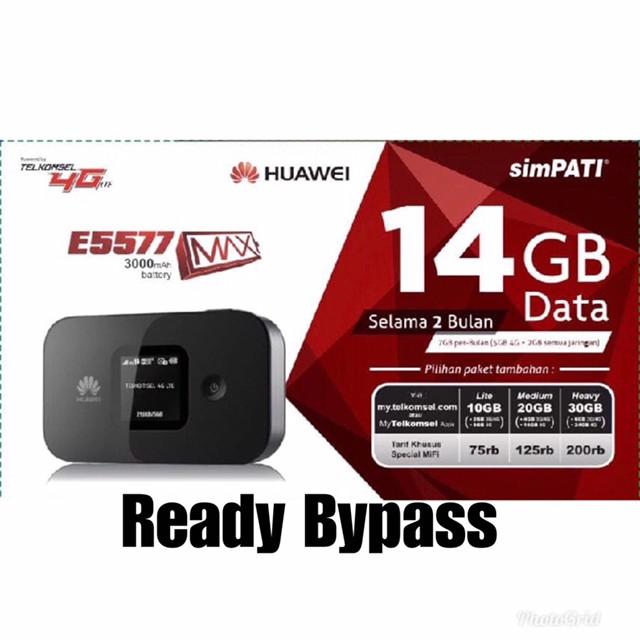 harga Mifi bypass 4g huawei e5577 max 3000mah unlock free telkomsel 14gb Tokopedia.com