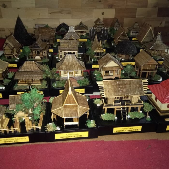 Jual Miniatur Rumah Adat 34 Provinsi Kab Bogor Miniatur Rumah Adat Tokopedia