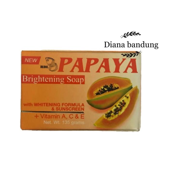Jual 135gr Rdl Papaya Brightening Soap Asli Original Sabun Pepaya Kota Bandung Diana Bandung Tokopedia