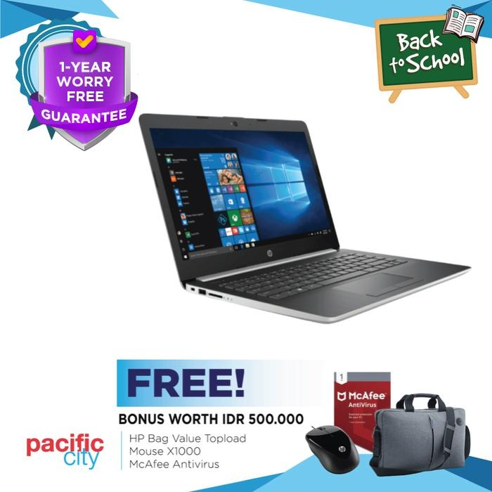 harga Laptop hp 14-ck0004tx 14  hd/intel core i3-7020u/4gb/1tb silver Tokopedia.com