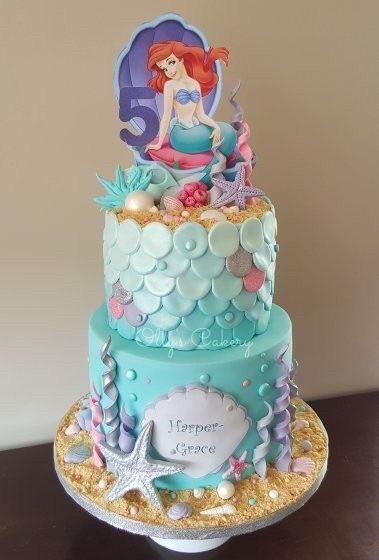 Peachy Jual Mermaid Birthday Cake Kue Ulang Tahun Anak Princess Ariel Funny Birthday Cards Online Drosicarndamsfinfo