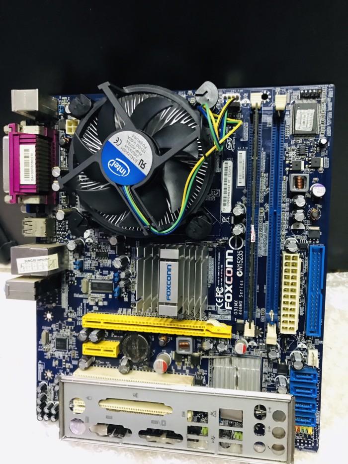 Foto Produk Paket Motherboard G31 + Core 2 Quad Q8200 +Fan + Ram 2Gb dari Tyos Shop