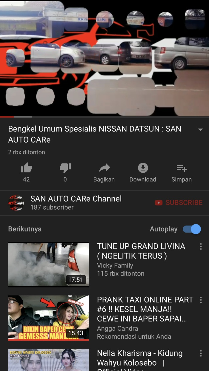 Jual PROMO SUBSCRIBER YOUTUBE CHANNEL SAN AUTO CARe TANGERANG Kota Tangerang SAN AUTO CARe