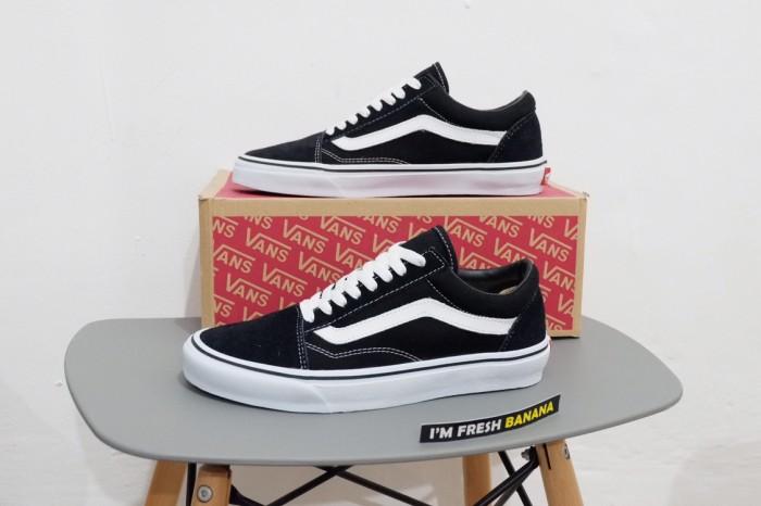 Jual Sepatu Vans Old Skool Classic Black White Dt Premium Oldskool
