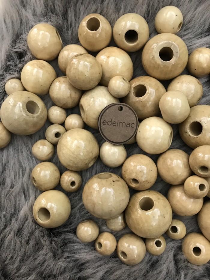 Foto Produk Wooden Beads | Mote | Manik Kayu Cet Natural - 1.5cm 5mm dari edelmac