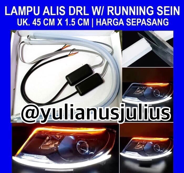 Foto Produk Lampu alis 45CM led alis bisa 2warna bisa sein dan drl harga per set dari jlscaraudio