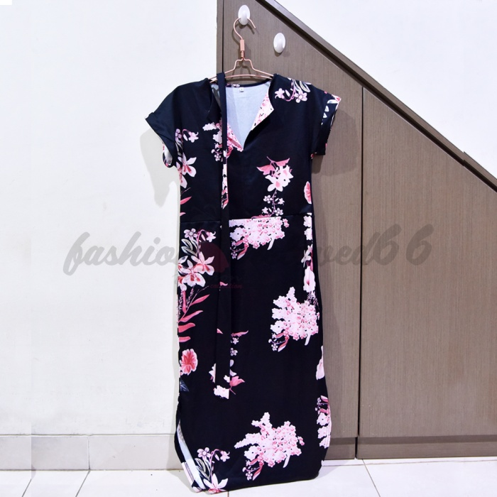 Foto Produk preloved flowery midi dress bunga with belt dari germa_66