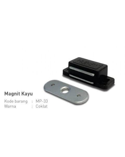 Foto Produk HUBEN MP33 Magnit Magnet Pintu Lemari Kayu Coklat/Putih Magnetic Catch dari Primas Sukses Toko