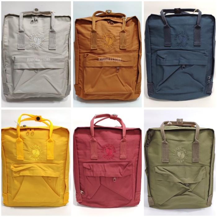 Foto Produk Tas FJALLRAVEN KANKEN motif logo bordir import premium - Merah dari Kimora